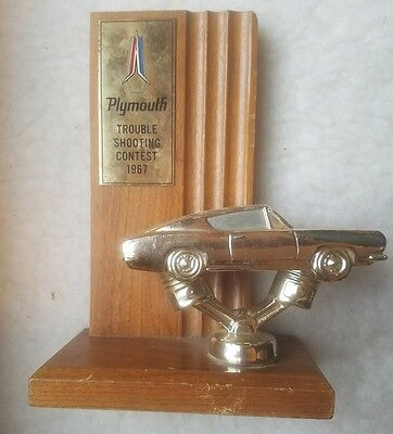 1967 Plymouth Trouble Shooting Contest Award. Missing name plate. Barracuda