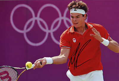 Milos Raonic Signed 8X12 Inches Tennis 2012 London Olympics Photo