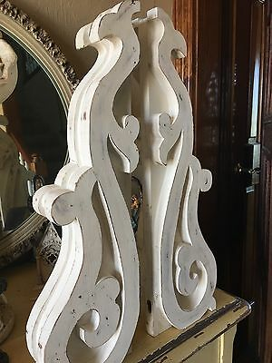 Distressed Large Victorian Corbel Pair 18 Inch Long