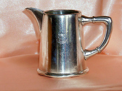 Pot A Lait Metal Argente Hotel Colon Barcelone Art Deco Annees 1950