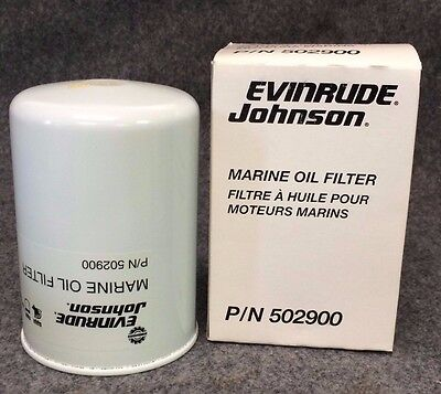 New EVINRUDE JOHNSON Marine Oil Filter, 502900