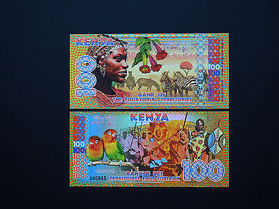 Kenya  Equatorial Territories  Banknotes - 100  Francs  Art Note       Mint Unc