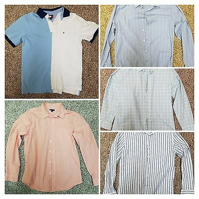 Gap Tommy Hilfiger Men's Polo and Button Down Shirts Lot Size Large
