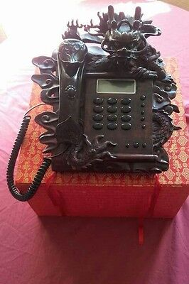 chinese antique rosewood landline telephone with box