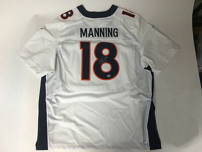 Peyton Manning Signed White Jersey (With COA)