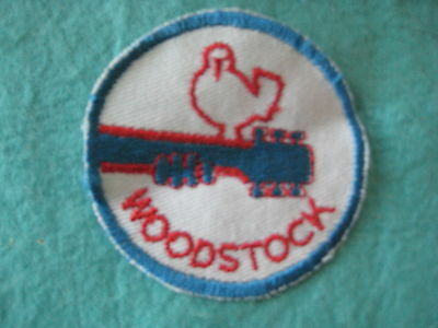 "Vintage Woodstock Music Fest Patch Sew On 3"" X 3"""