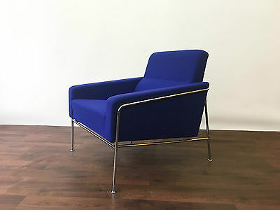 Arne Jacobsen Danish Fritz Hansen 3300 Lounge Chair Armchair Mid Century Wool
