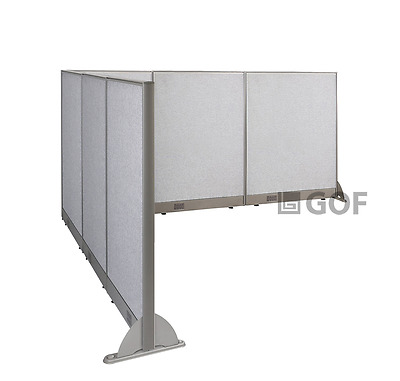 GOF L-Shaped Freestanding Partition 90D x 102W x 48H / Office, Room Divider