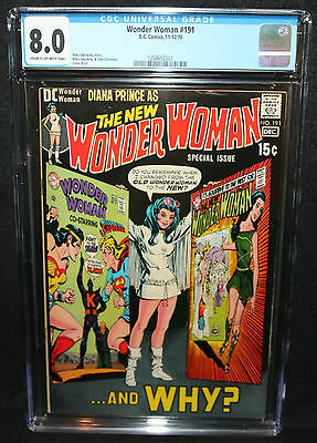 Wonder Woman #191 - Mike Sekowsky - Old to New WW - CGC Grade 8.0 - 1970