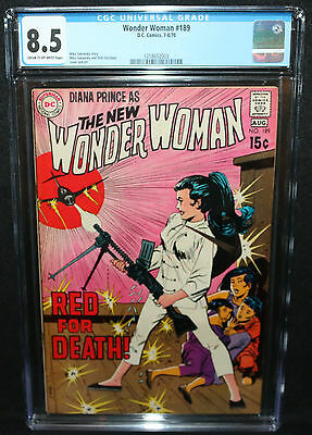 Wonder Woman #189 - Mike Sekowsky - 'Red For Death!' - CGC Grade 8.5 - 1970