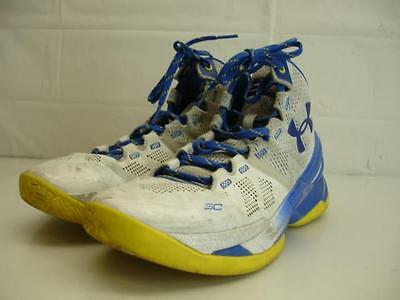 more photos c662c f8565 Under Armour UA Curry 2 Dub Nation Home 1259007-104 White Yellow Shoes Mens  8.5