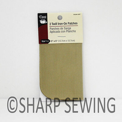 "STONE 2 PIECES 5/"" X 5/"" # D55240-9AD 55240-9AD DRITZ TWILL IRON ON PATCH"