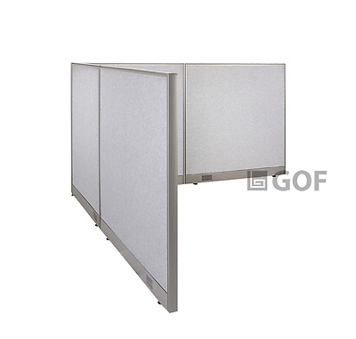 GOF L-Shaped Freestanding Partition 96D x 102W x 48H / Office, Room Divider