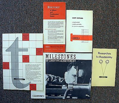 Letterpress Printing: 5 Publications by Linotype [L667]