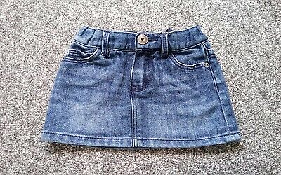 Cute GAP Girls Mini Denim SKIRT Age 12-18 months
