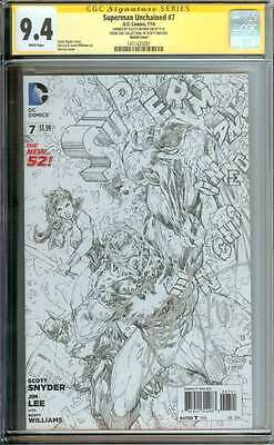 Superman Unchained #7 Cgc 9.4 White Pages