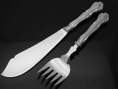 Mappin & Webb Russell Pattern - Fish Servers - Silver Plated - Vintage Cutlery