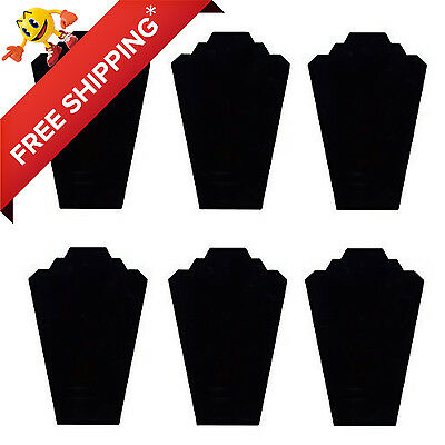 TWING Black Velvet Nacklace Jewelry Display Organizer Stand 6pcs/pack 12.5""