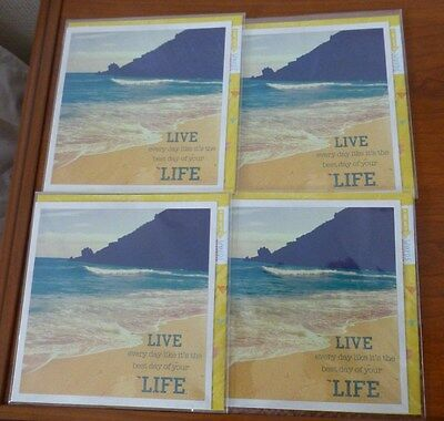 Hallmark Cards ~ 4 x LIVE LIFE Greeting Cards ~ Brand New in Wrap