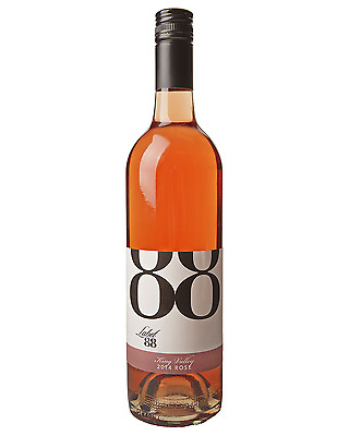 Label 88 King Valley Rose 2016 case of 6 Dry Red Wine 750mL
