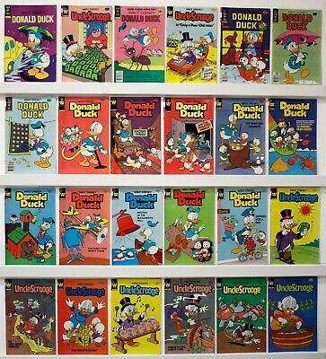 Disney Donald Duck and Uncle Scrooge  Lot of 27 comics  Some doubles, Mid grade