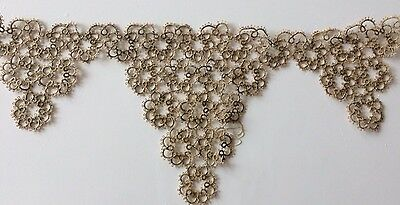 Antique Tatted Lace Collar Bodice Tatting Trim Edging Cotton Vintage Sewing