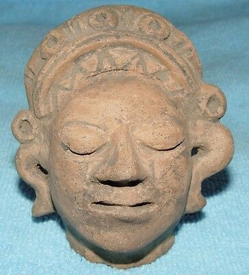 ANCIENT MAYAN SUPERBLY DETAILED TERRACOTTA BUST 3 - 9th Century AD Ref.883