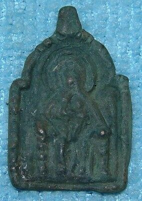 STUNNING BYZANTINE BRONZE PENDANT ICON DEPICTING SAINT 11th CENTURY AD Ref.57