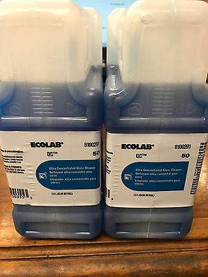 (Case of Two) Ecolab 1.3L 6100291 Ultra Concentrated Glass Cleaner QC 50