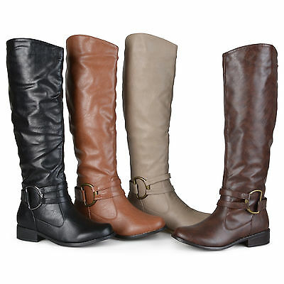 610a1e2296b1 Journee Collection Womens Regular Sized Knee High Riding Boots New
