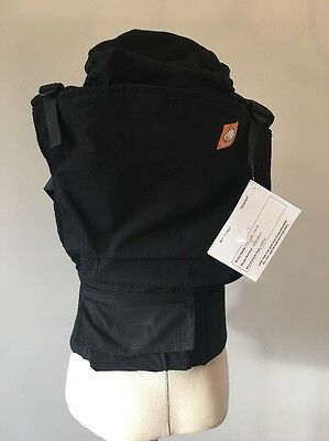 New Solid Black Urbanista Standard Tula Baby Carrier With Hood