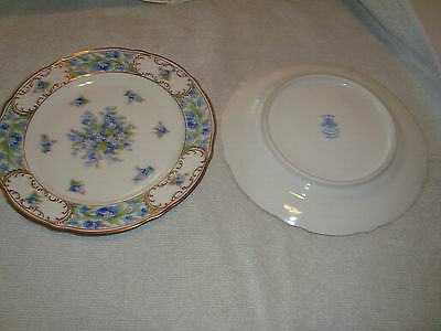 """Schumann Fine China Forget-Me-Not 7"""" salad plates"""