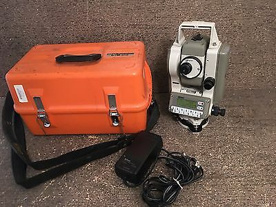 "Nikon Dtm-310 4"" Total Station For Surveying & Construction W/ Case, Charger"