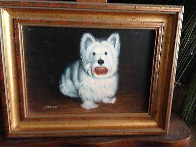 Vintage Painting Of West Highland White Terrier