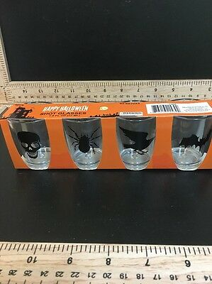 Happy Halloween Shot Glasses Set Of 4, 1.8 FL OZ (acrylic).