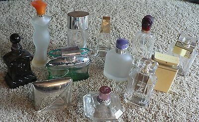 Lot of PERFUME BOTTLES, Empty, Glass