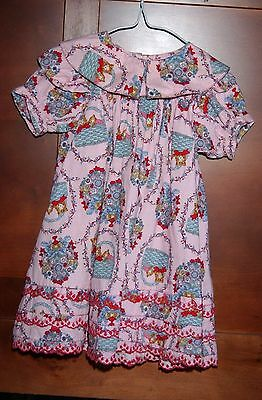 Vintage Floral Spring Mousefeathers Girls Dress Size 24 Months or Size  2