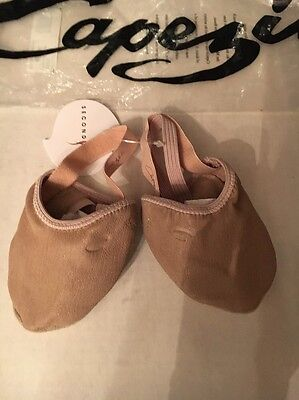 Capezio Nude Half Ballet  Size Small Adult New with Tags