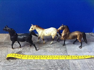 "Vintage 5"" Breyer Horses Saddlebred & Quarterhorse Paint Black & Brown"