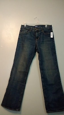 Old Navy Boys Jeans Loose Boot Cut. Size 14 Husky NWT