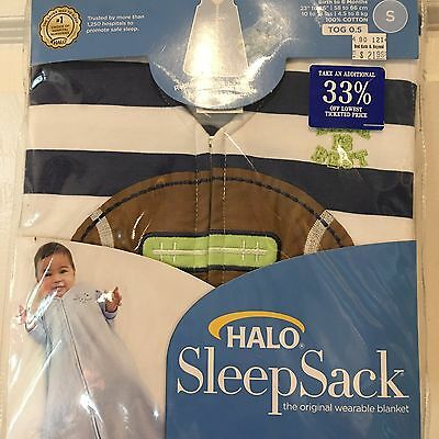 NEW Boy's Halo Sleep Sack Wearable Blanket 0-6 Months Size Small