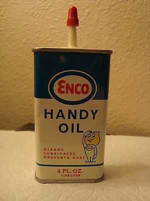 Vintage Humble Enco Handy Oiler Metal Can 4oz