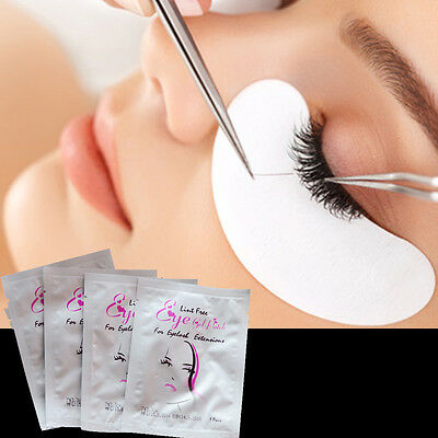 200 Pairs Eyelash Eye Lashes Extension Under Eye Gel Pads Lint Free Eye Patches