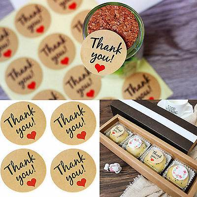 DIY Love 120Pcs Kraft Paper Thank You Gift StickerS Wedding Favors Party Vintage