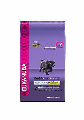 Eukanuba Puppy Dry Pet Dog Food for Large Breed Chicken 12kg FastFree Delivery