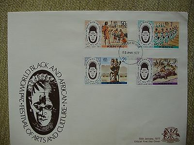 1977 Kenya Festival of Arts and Culture Issue First day Cover