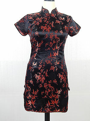 Qipao Cheongsam Chinese Mini Dress Zippe Back Size Large