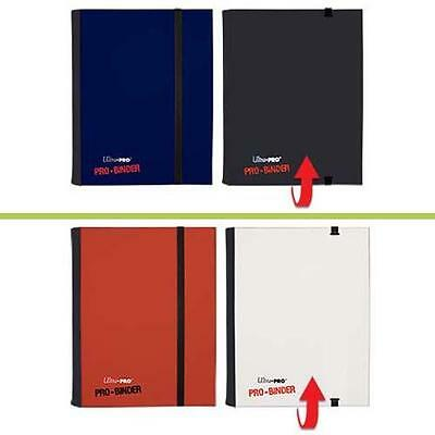 Ultra Pro - 4 Pocket Flip Pro Binders Red & White / Black & Blue (Holds 160)