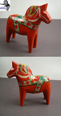 # Nils Olsson Swedish Dala Wooden handcarved horse in red 4,05 inches #
