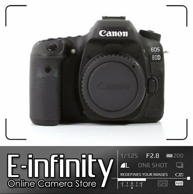 NUOVO NEW Canon EOS 80D DSLR Camera Built-In Wi-Fi with NFC Body (Kit Box)